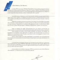 France Telecom letter, 1991